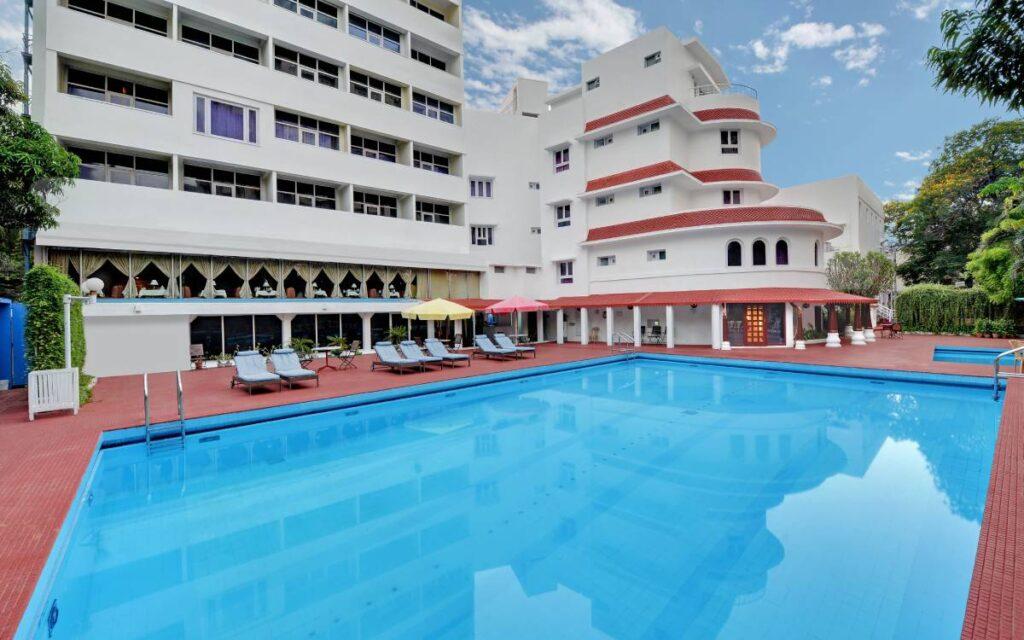 Swimming Pool Area chennai ambassador pallava meeting banquet - The Ambassador | Heritage Hotels in Mumbai, Aurangabad, Chennai - Facilities