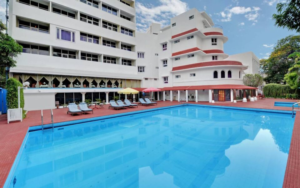 Swimming Pool Area chennai ambassador pallava meeting banquet - The Ambassador | Heritage Hotels in Mumbai, Aurangabad, Chennai - Ambassador Pallava Chennai