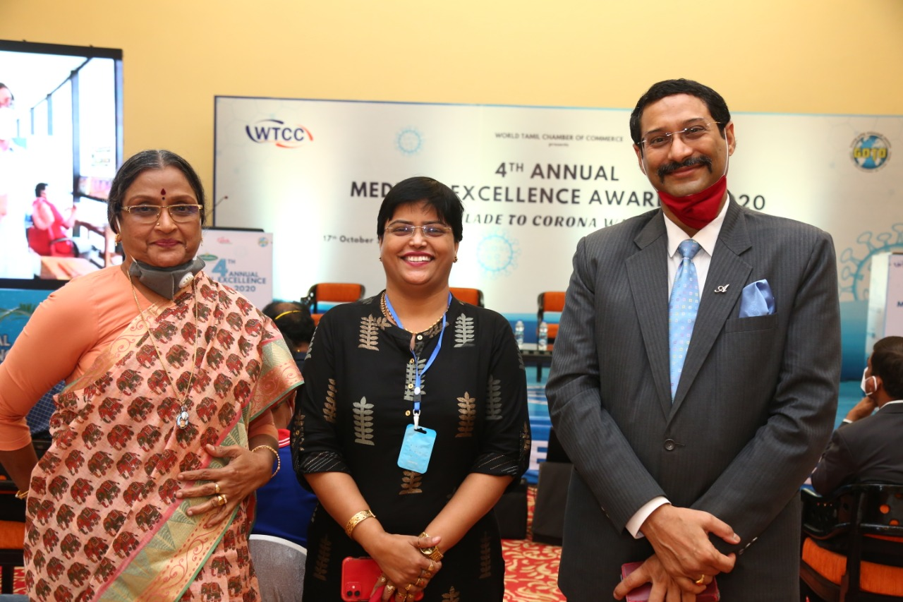 "Comforter Award 01 - The Ambassador | Heritage Hotels in Mumbai, Aurangabad, Chennai - Ambassador Pallava, Chennai Receives ""COVID PATIENTS COMFORTER AWARD"" in Annual Medical Excellence Awards  2020."