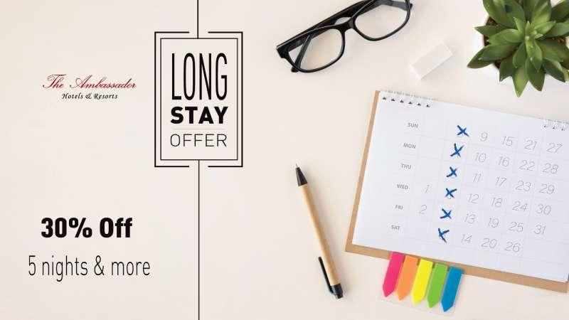 Long Stay offer 800 - The Ambassador | Heritage Hotels in Mumbai, Aurangabad, Chennai - Ambassador Hotels