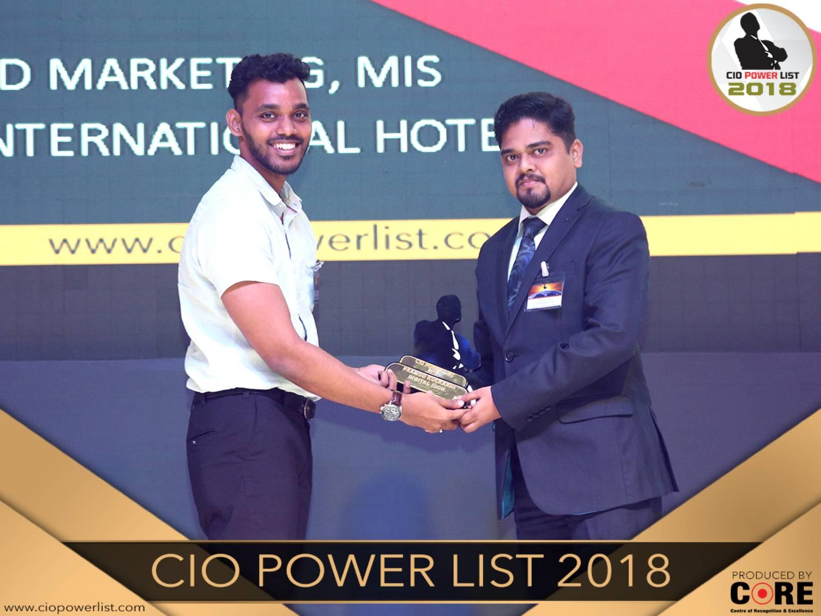 PRAMOD KULKARNI - The Ambassador   Heritage Hotels in Mumbai, Aurangabad, Chennai - Pramod Kulkarni recognised as Digital Icon At CIO Power List 2018 by Core Media