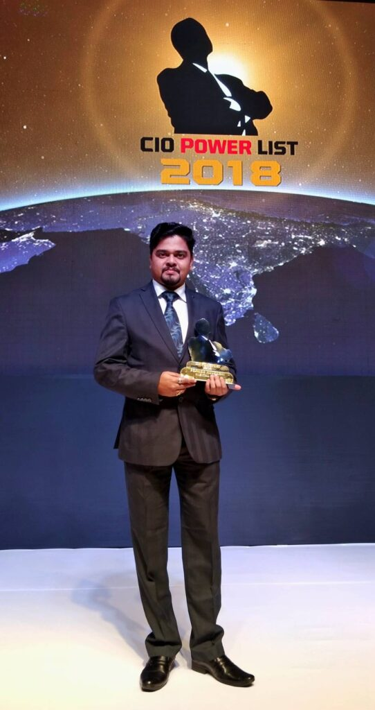 Pramod Kulkarni CIO Digital Icon - The Ambassador   Heritage Hotels in Mumbai, Aurangabad, Chennai - Pramod Kulkarni recognised as Digital Icon At CIO Power List 2018 by Core Media