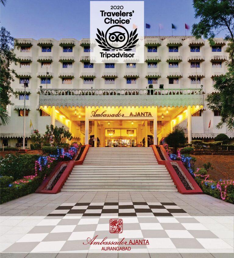 Travelers Choice Awards Ambassador Ajanta Aurangabad - The Ambassador | Heritage Hotels in Mumbai, Aurangabad, Chennai - Ambassador Ajanta, Aurangabad Celebrates The 'Best in Hospitality with Tripadvisor 'Travelers' Choice Awards 2020'