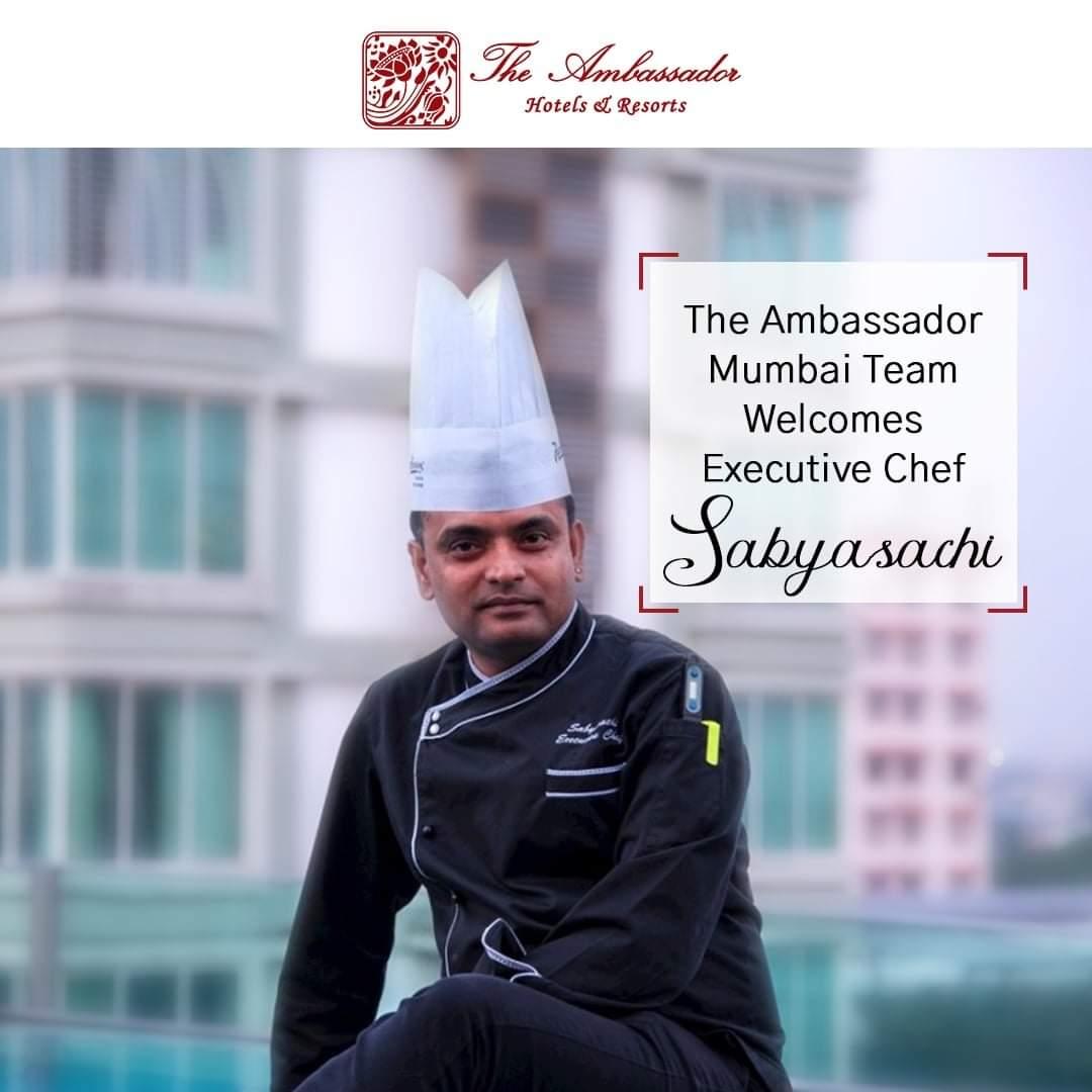 WhatsApp Image 2020 11 17 at 20.16.52 - The Ambassador | Heritage Hotels in Mumbai, Aurangabad, Chennai - Sabyasachi Dasmahapatra, Appointed Executive Chef, at The Ambassador Hotel, Marine Drive, Mumbai